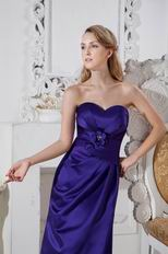 Cheap Sweetheart Long Eggplant Purple Stain Prom Dress Wholesale