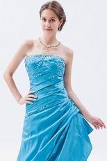 Princess Sweetheart Dodger Blue Taffeta Prom Celebrity Dress