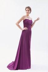 Perfect Sweetheart Dark Meganta Sweep Train Prom Dress