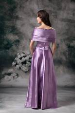 Cheap Off Shoulder Medium Orchid Prom Party Dress