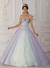 Pretty Sweetheart Multi-Color Colorful Prom Dress Like A Princesss