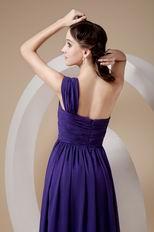 Indigo One Shoulder Floor-length Skirt 2014 Designer Prom Dress