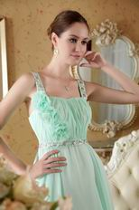 Straps Square Neck Top Designer Fading Color Fabric Prom Dress