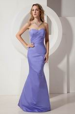 Sweetheart Mermaid Lavender Stain Prom Dress Celebrity Party