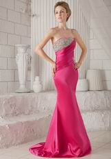 Trumpet Strapless Fuchsia Pageant Dress To 2014 Prom Party