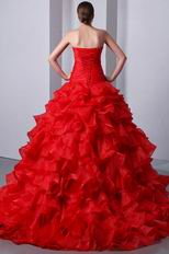Unique Sweetheart Red Allure Quinceanera Dress By Designer