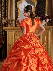 Classical Styles Orange Quinceanera Dress With Jacket