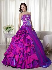 Custom Made Purple sQuinceanera Dress For 2014 Girls Wear