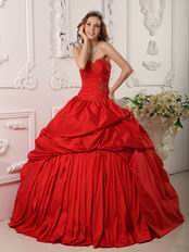 Pretty Crimson Floor Length Dress For Quinceanera Party