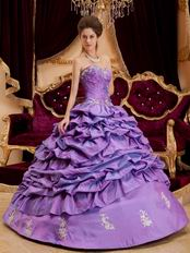 Dark Orchid Designer Quinceanera Dress With Applique