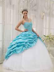 Aqua Floor Length Skirt Allure Quinceanera Dress For Girls