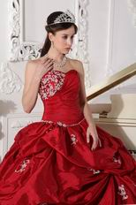 Low Price Strapless Wine Red Dress to Quinceanera Wear