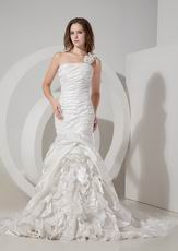 Mermaid One Shoulder Designer Brand New Wedding Gown