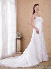 Strapless White Wedding Outfits Bridal Dress For Cheap Price