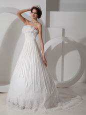 Unique Strapless 2014 Wedding Bridal Gown With Chapel Train