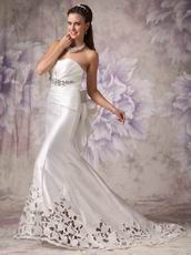 Simple Sweetheart Mermaid Pleated Wedding Bridal Dress