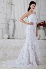 New Style Mermaid Fishtail Skirt White Lace Bridal Gown