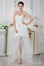 Unique Corset Asymmetrical Detachable Skirt Bridal Gowns