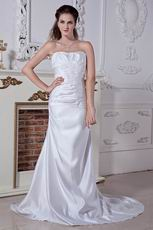 Classical Sweetheart Appliques Lace Up Destination Wedding Dress