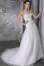 Elegant Sweetheart Designer Lists Organza Bridal Wedding Dress