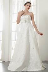 Romantic Sweetheart Crystal Bodice Lace Up A-line Bridal Gown