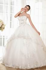 Top Seller Sweetheart Puffy Ball Gown Ivory Bridal Dress