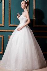 Luxurious Sweetheart Ball Gown Puffy Ivory Garden Wedding Dress