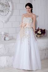 Sweetheart Embroidery Formal Evening Dress With Bowknot