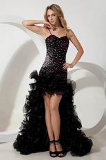 Spaghetti Straps Asymmetrical Evening Dress For Sale