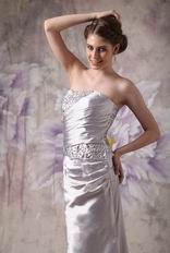 Fishtail Skirt Beaded Sliver 2012 Evening Dress Petite