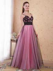 Spaghetti Straps Pink Evening Dresses Woman Wear Cheap