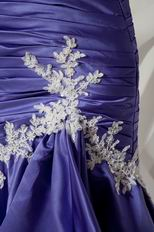 Beautiful Mermaid Blue Violet Lace Skirt Evening Dress