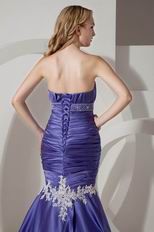 Beautiful Mermaid Blue Violet Lace Skirt Evening Dress