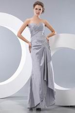 Silver Mermaid Taffeta Celebrity Evening Dress For Cheap