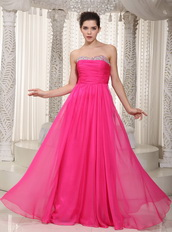 Hot Pink Designer One Shoulder Sexy Evening Dress Customized Night Club