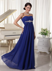 Royal Blue Chiffon Floor Length Night Club Evening Dress Night Club