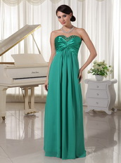 Turquoise Sweetheart Beaded Dress For Prom Evening Party Night Club