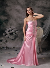 Pink Sweetheart Taffeta Evening Dress Gowns Lady Night Club