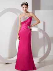 Sweetheart Beaded 2012 Style Fuchsia Women In Prom Dress
