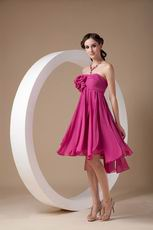 Ruby Bridesmaid Dress With Hand Made Flowers Under $100