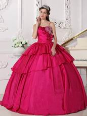 Floor Length Deep Rose Pink Ball Dress In New Jersy