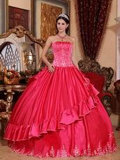 Alizarin Crimson 16th Birthday Girls Dress Under 200 Dollars