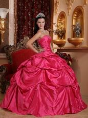 Famous Designer Deep Pink Dama Quinceanera Dress