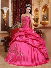Deep Rose Pink 2008 Styles Cheap Quinceanera Party Dress