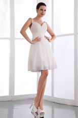 Appliqued Ivory Chiffon Custom Made Graduation Dresses