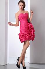 Cute Sweetheart Rose Pink Graduation Dance Dresses