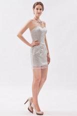 Simple Sequin Fabric Girls Mini Graduation Dresses