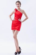 Scarlet One-Shoulder Mini Dress To Wear For Graduation
