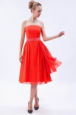 Wholesale Tea Orange Red Girls Graduation Dress