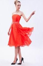 Wholesale Tea Orange Red Girls Graduation Dress